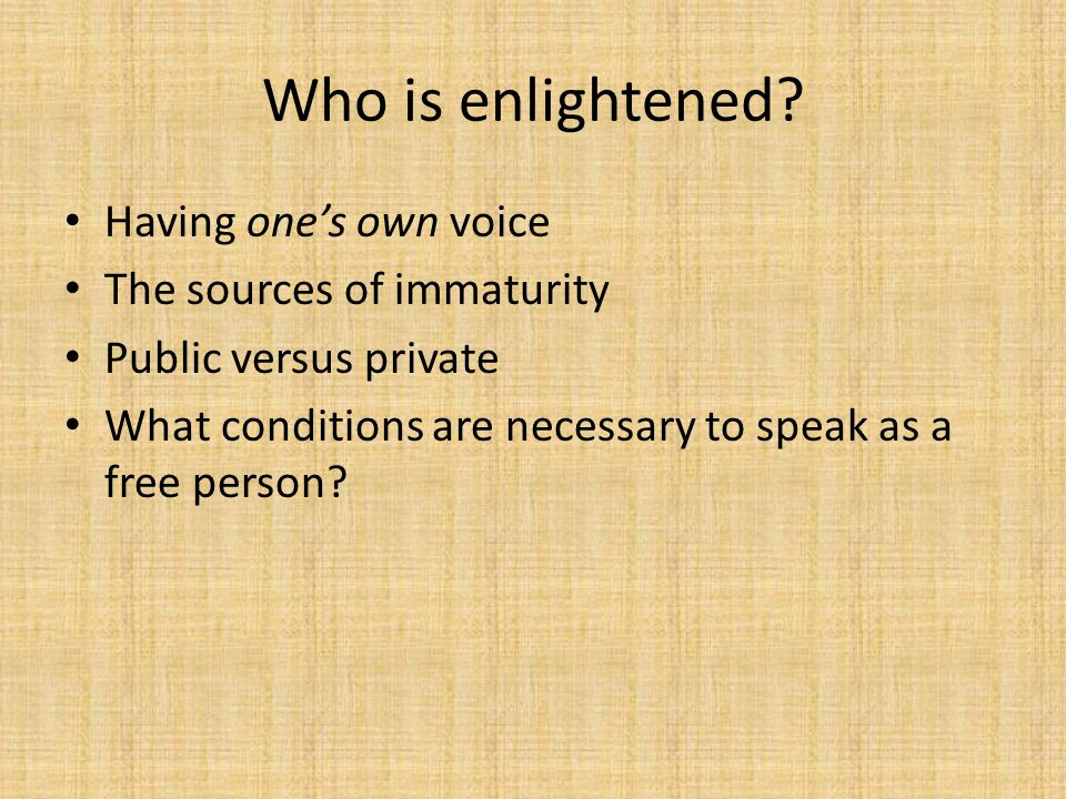 Who is enlightened.