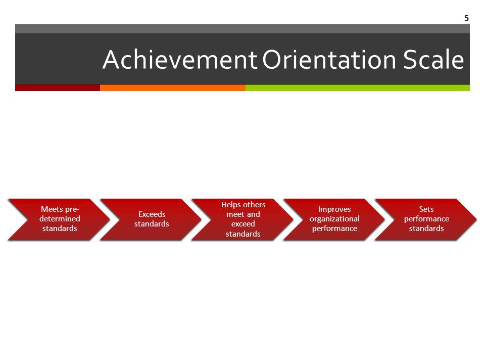 Achievement Orientation Line Up 6