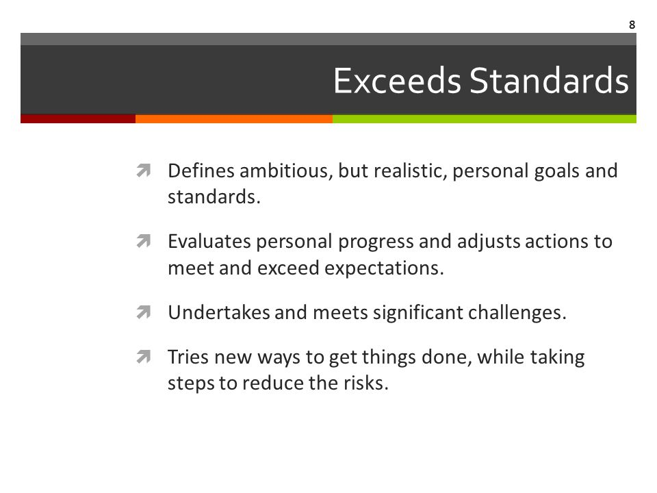 Helps Others Exceed Standards  Makes efforts to improve others efficiency.
