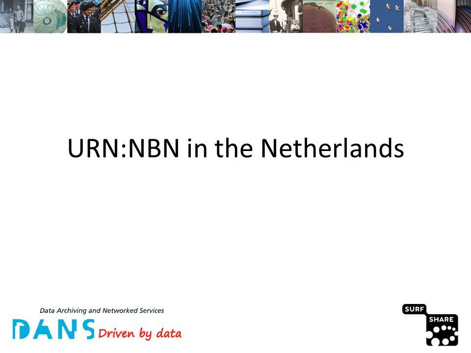 URN:NBN in the Netherlands