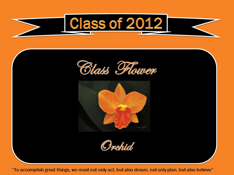 In honor of our class We turn our tassels.