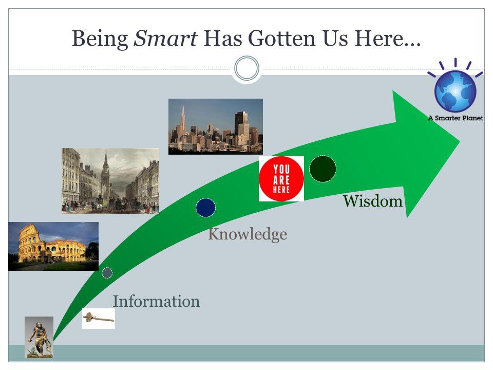 Being Smart Has Gotten Us Here… Information Knowledge Wisdom