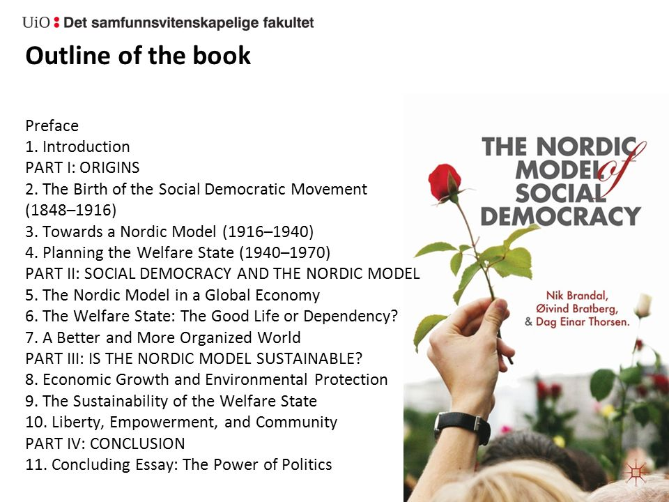 The Norwegian case has been aided by national and social cohesion… …but the quintessential element: institutions for collective decision making + continuous mobilisation from below Welfare state as «institutionalised solidarity» Requires ability to create as well as willingness to share Only Nordic.