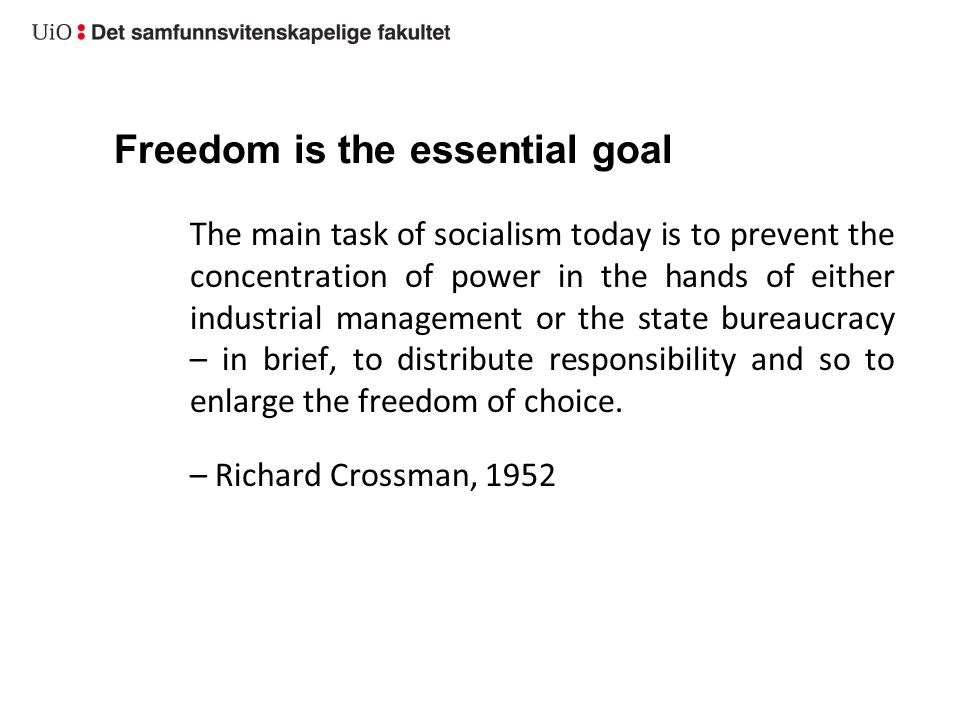 Requirements and the sustainability issue Fight for equality should not equal a fight for conformity – equal opportunities, individual freedom (social and cultural obstacles to human growth).