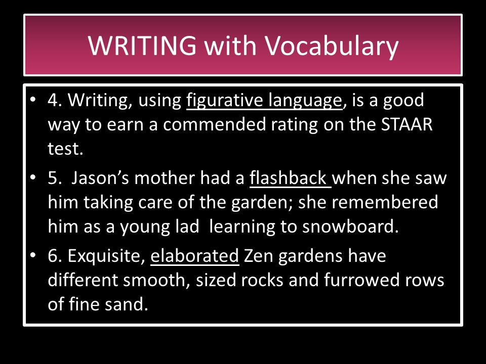 WRITING with Vocabulary 1.