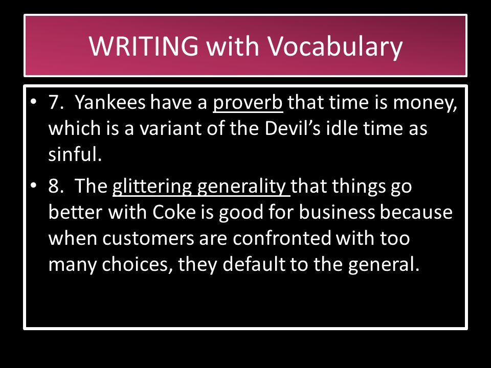 WRITING with Vocabulary 4.