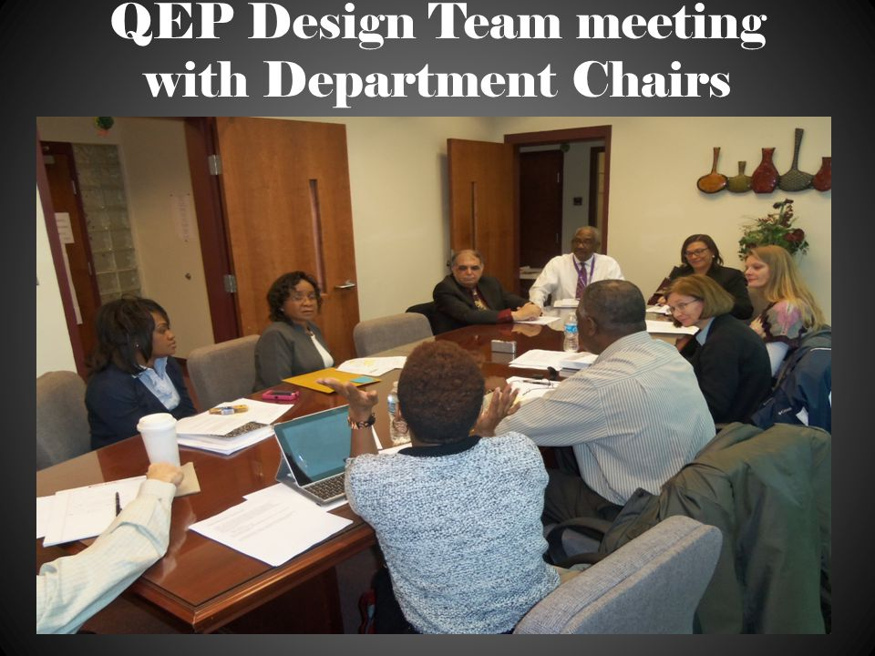 QEP Consultant Workshop with Steering Committee