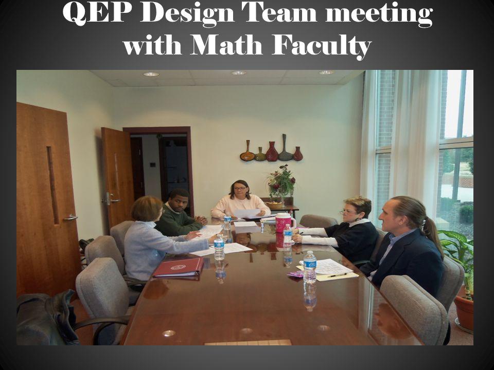 QEP Design Team meeting with Math Faculty