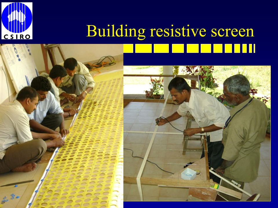 Building resistive screen