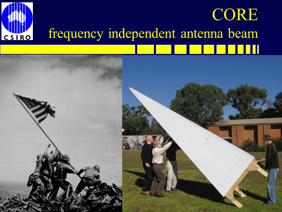 CORE frequency independent antenna beam