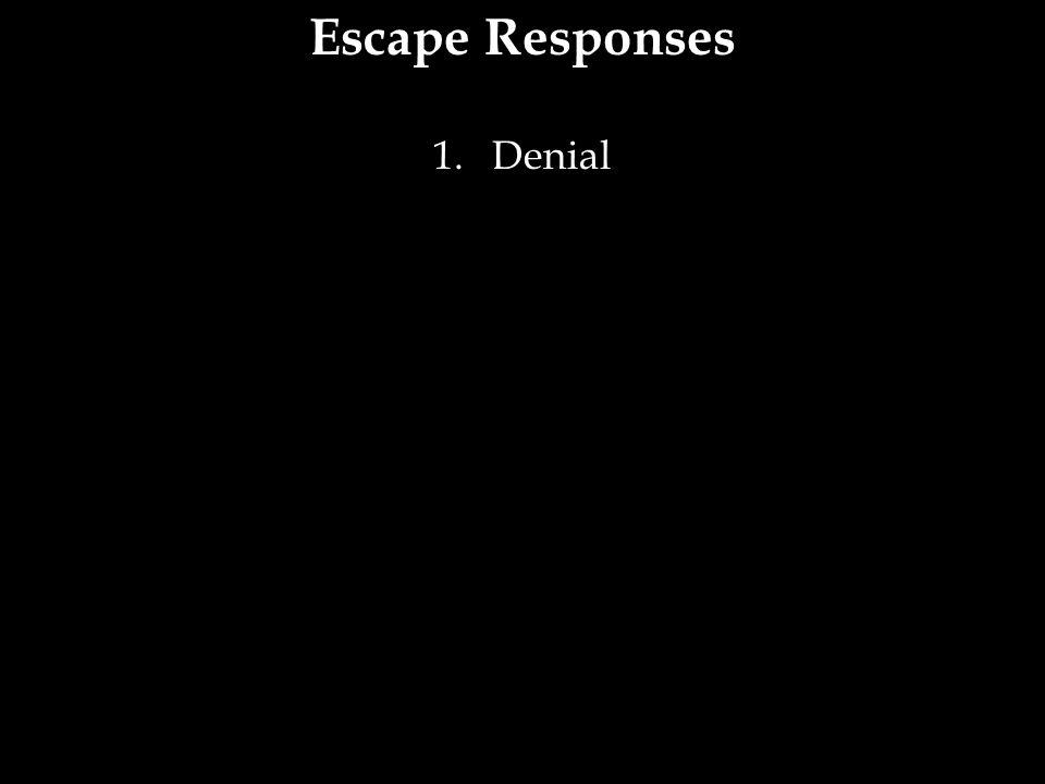 Escape Responses 1.Denial