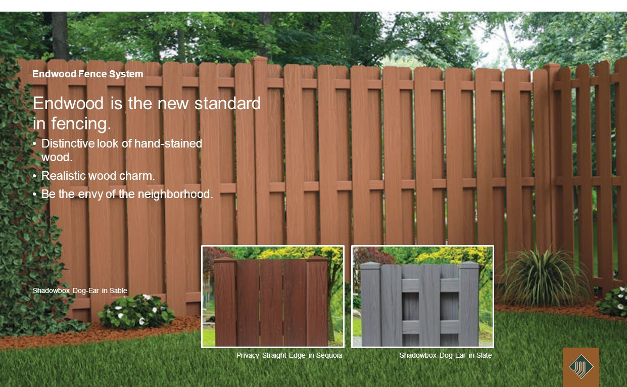 Endwood Capped Cellular PVC Fence System Nothing like wood, composite or hollow vinyl fencing.