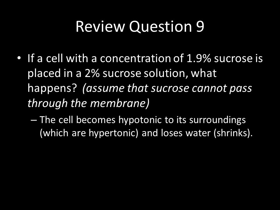Review Question 10 Pure water is perfectly ___tonic, therefore  S is equal to ___.
