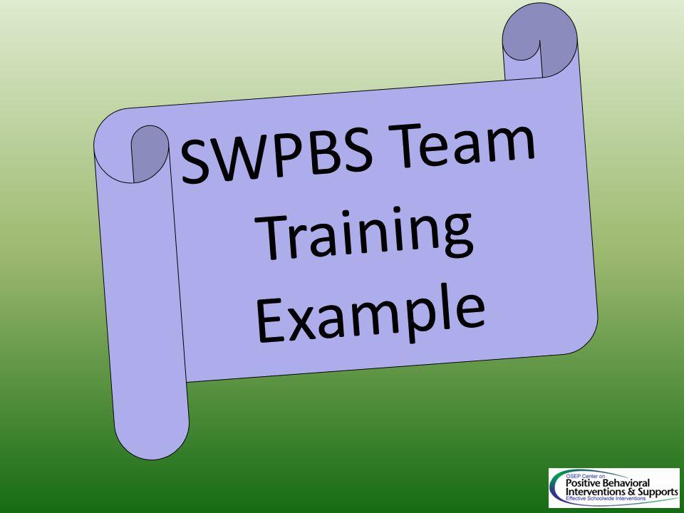 SWPBS Team Training Example