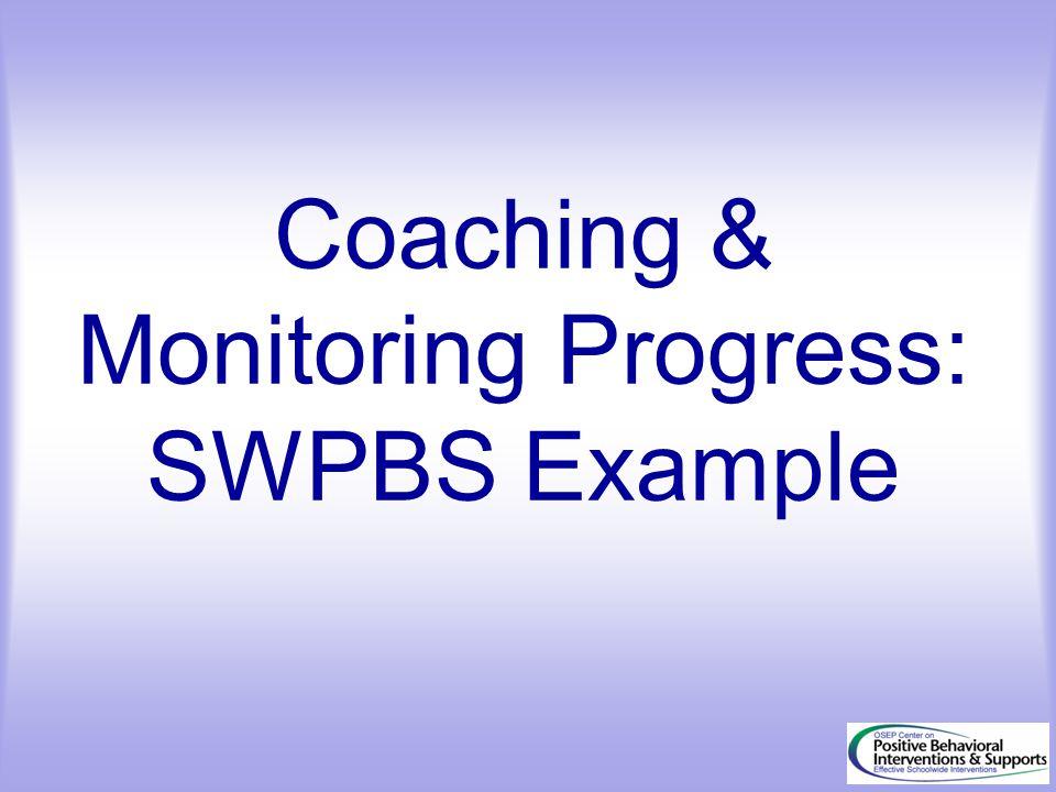 Coaching & Monitoring Progress: SWPBS Example