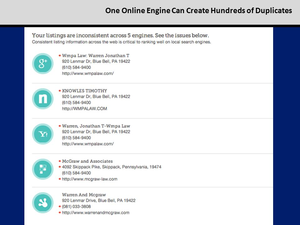 One Online Engine Can Create Hundreds of Duplicates