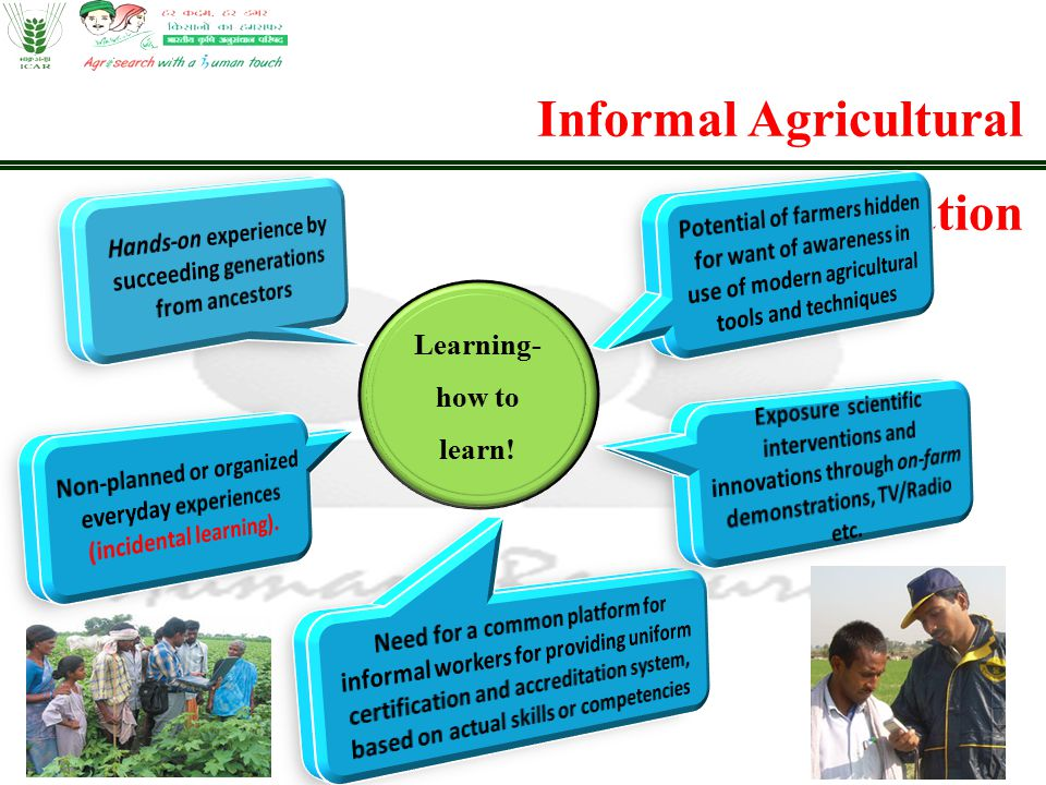 Informal Agricultural Education Learning- how to learn!