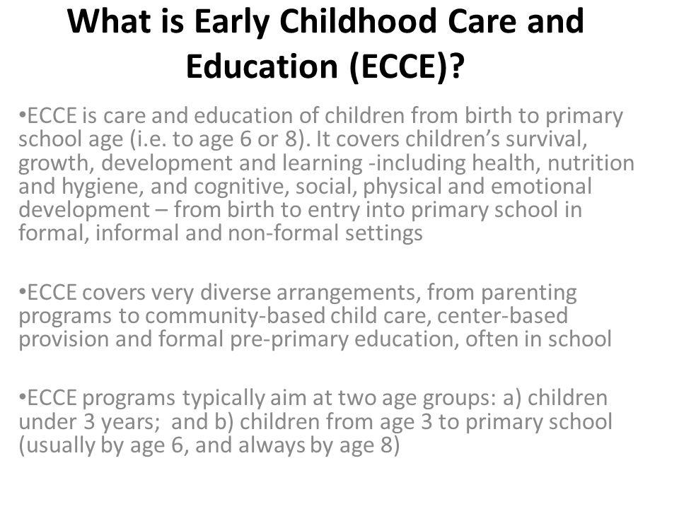 ECCE in Urhoboland - cont Standard ECCE programs are almost not available.