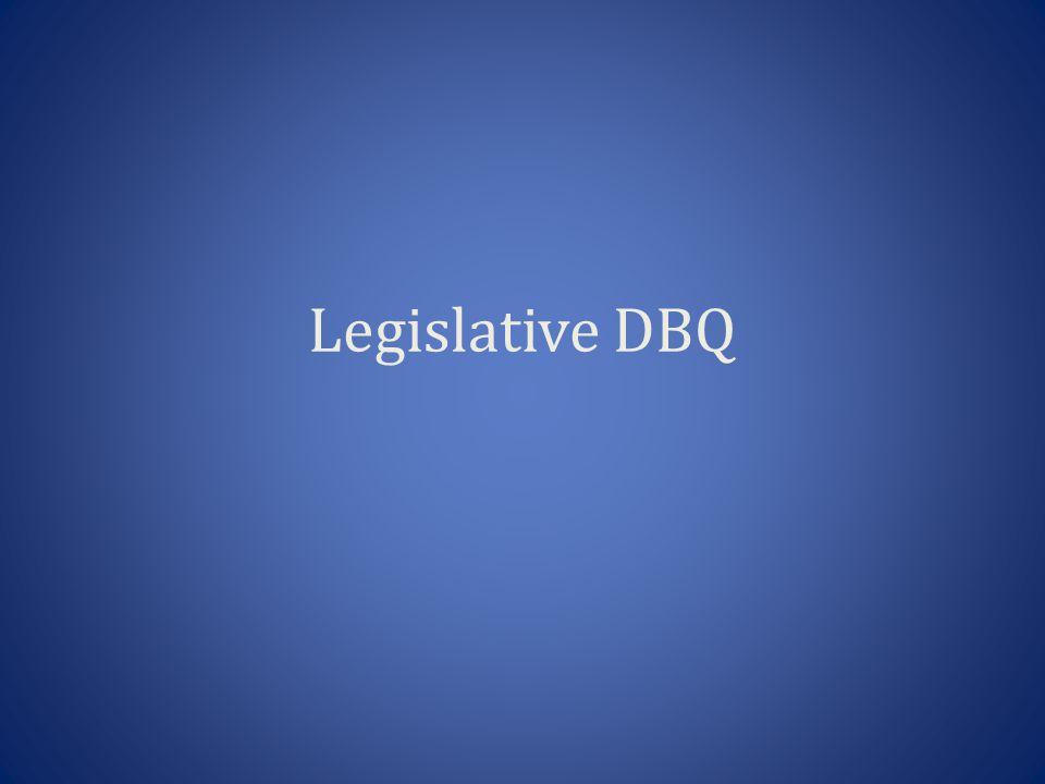 Legislative DBQ
