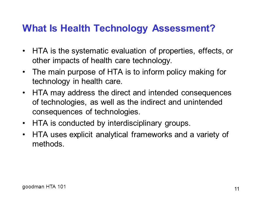 goodman HTA 101 11 What Is Health Technology Assessment.
