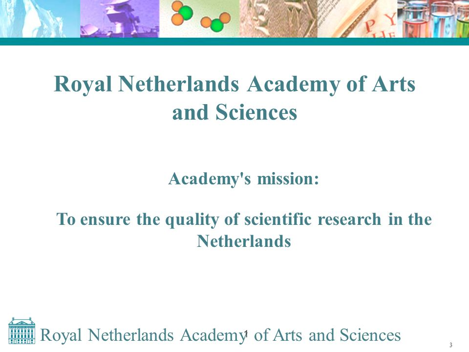 Royal Netherlands Academy of Arts and Sciences 1 Result of DAI implementation Relationships between research descriptions and research results (datasets and publications) become visible, but: Sustainablility not yet guaranteed.