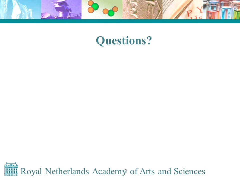 Royal Netherlands Academy of Arts and Sciences 1 Questions