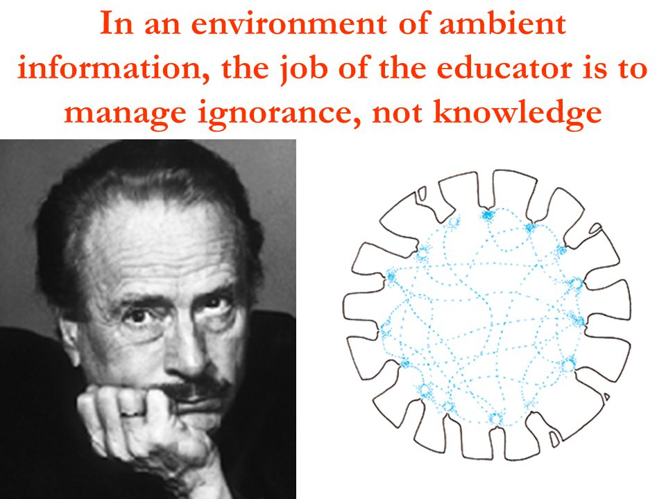 In an environment of ambient information, the job of the educator is to manage ignorance, not knowledge