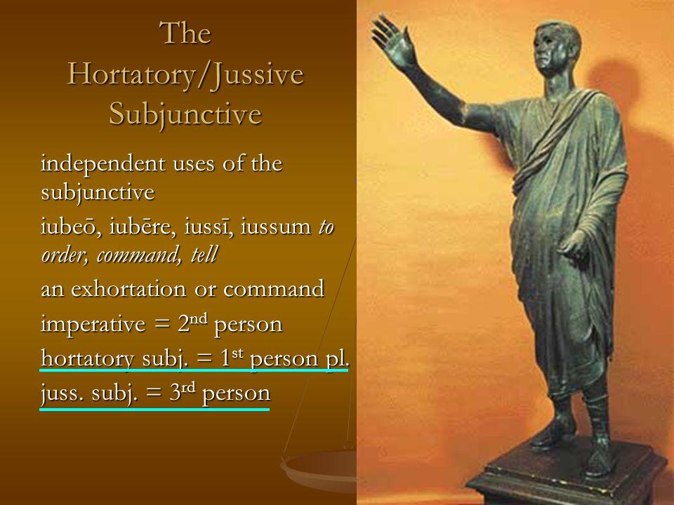 hortatory subj.= 1 st person pl.
