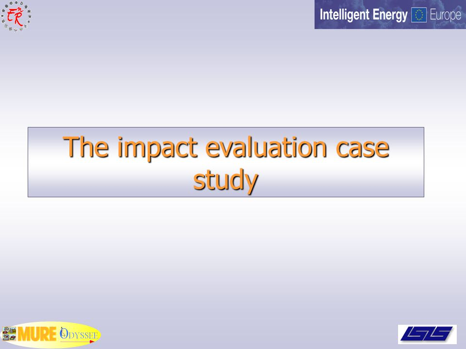 The impact evaluation case study