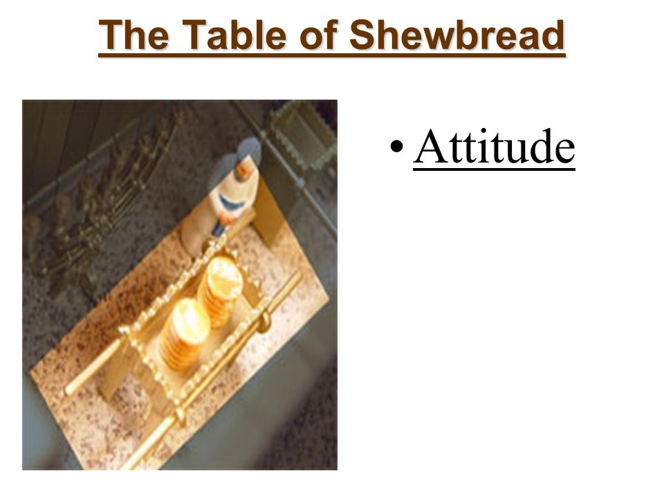 The Table of Shewbread Attitude