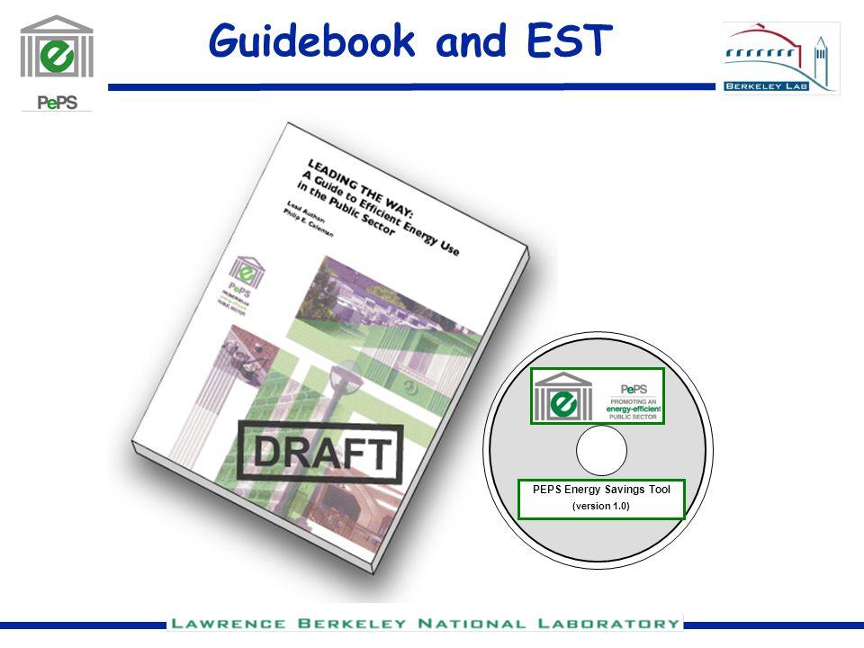 Guidebook and EST PEPS Energy Savings Tool (version 1.0)