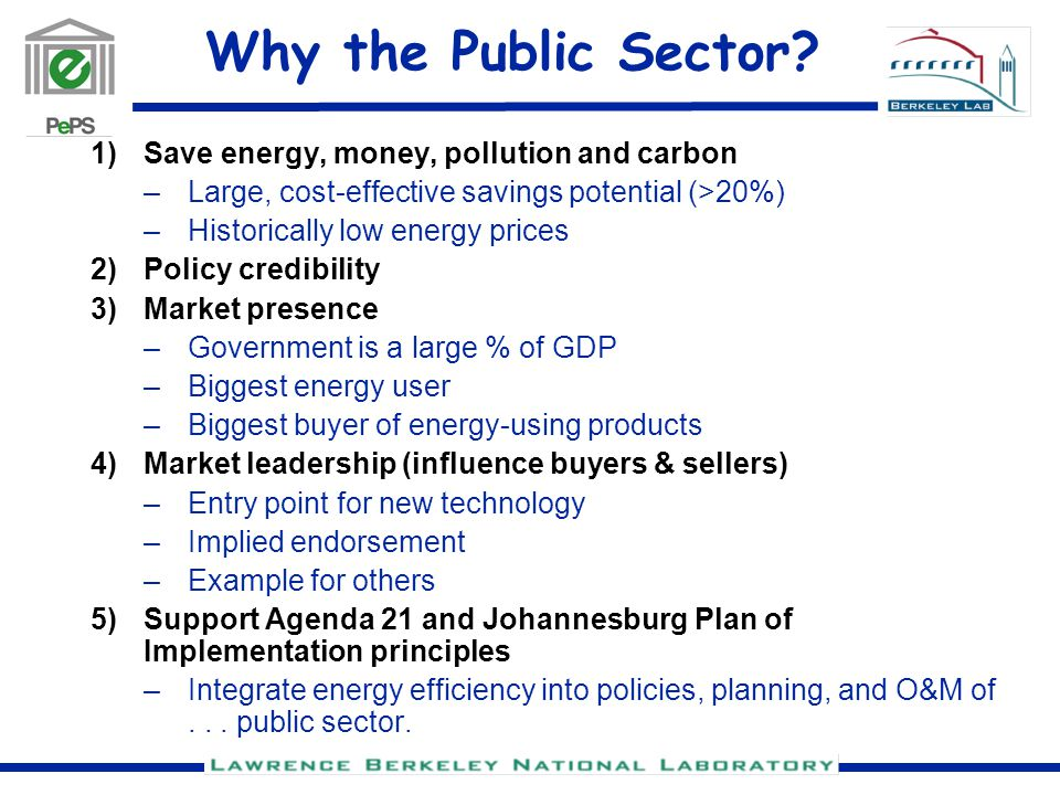 Why the Public Sector.