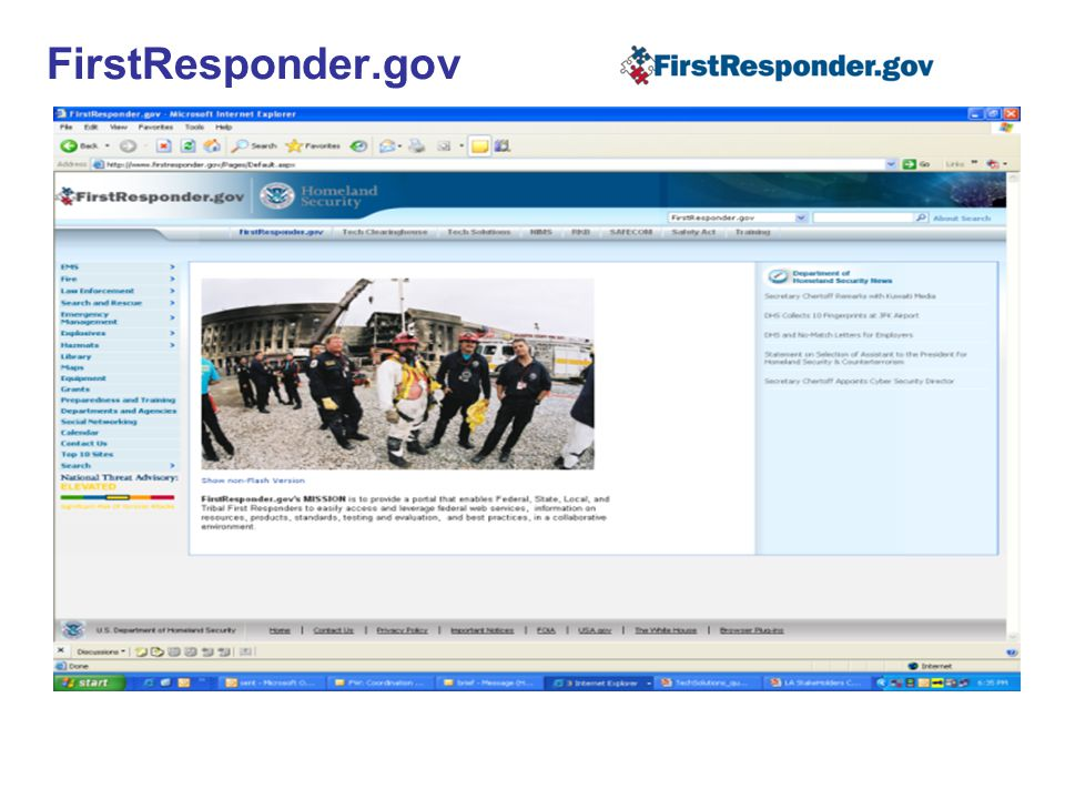 FirstResponder.gov