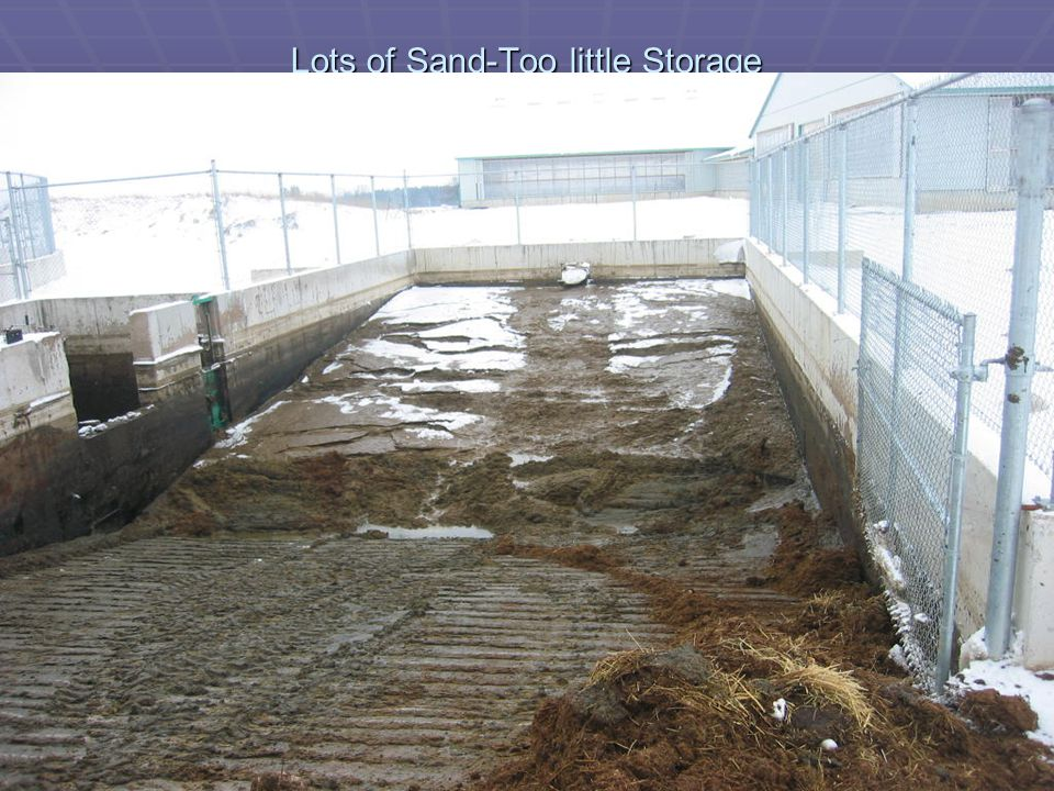 Lots of Sand-Too little Storage
