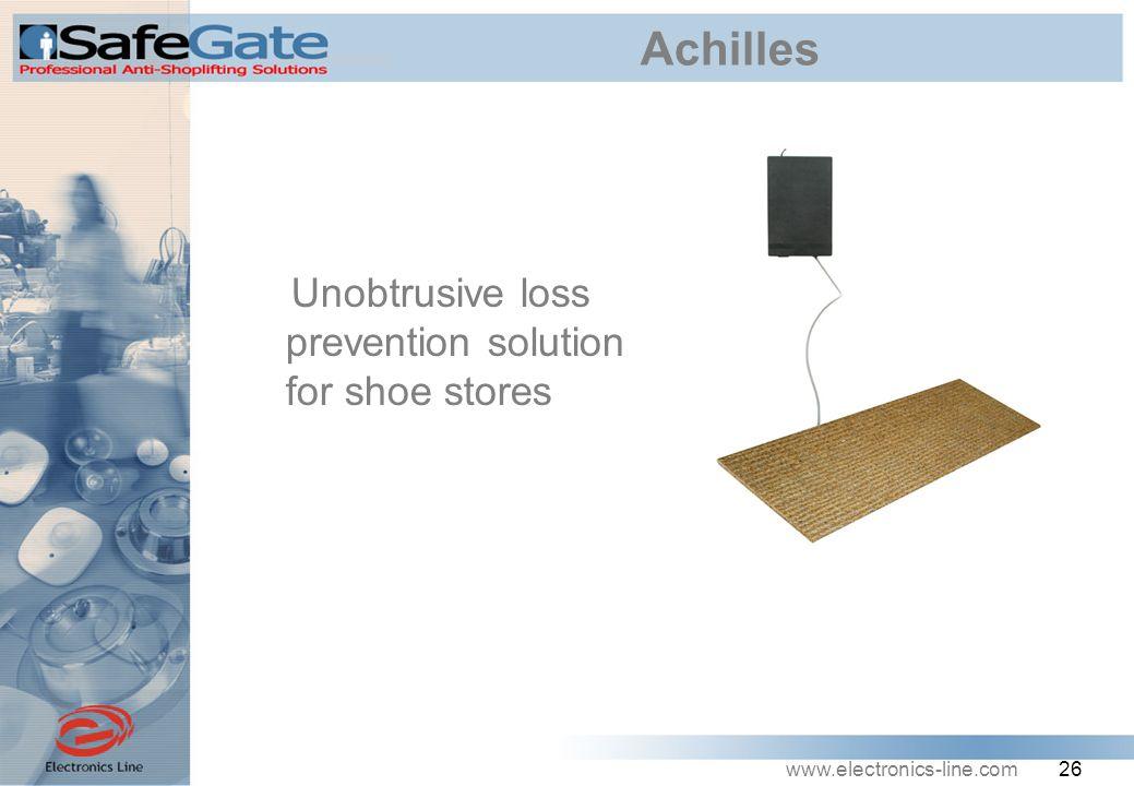www.electronics-line.com 26 Achilles Unobtrusive loss prevention solution for shoe stores