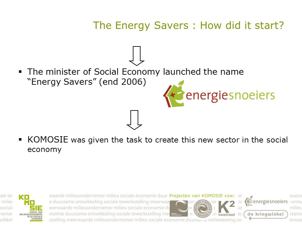 The Energy Savers : How did it start.
