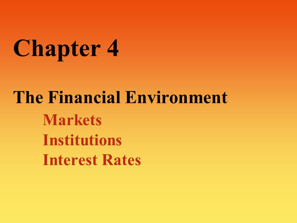 12 The Financial Markets:  The Capital Market:  Exchange of long-term securities—in excess of one year  Generally used to secure long-term financing for capital investment.