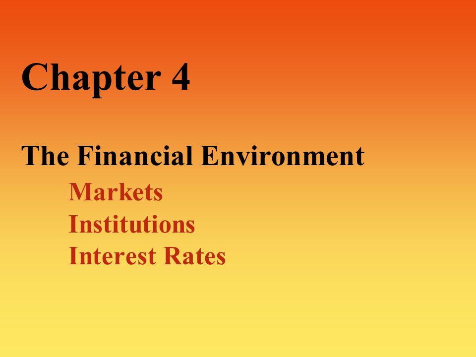 2 The Financial Environment