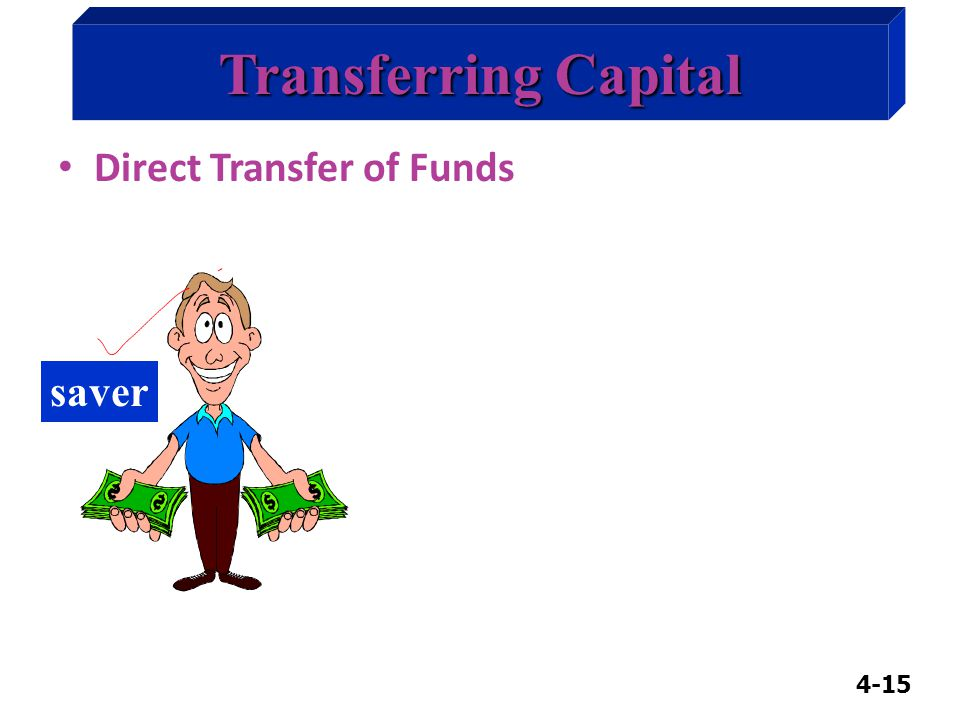 4-15 Transferring Capital Direct Transfer of Funds saver