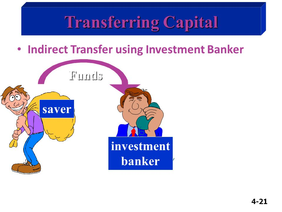4-21 Funds Transferring Capital Indirect Transfer using Investment Banker saver investment banker