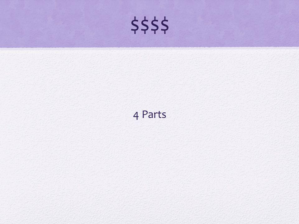 $$$$ 4 Parts