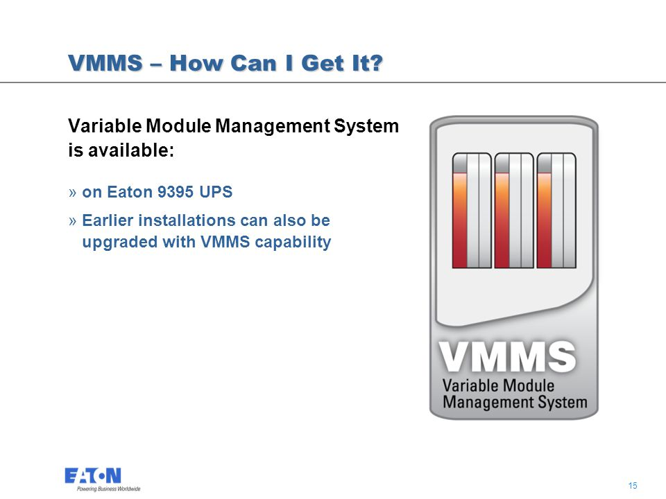 15 VMMS – How Can I Get It.