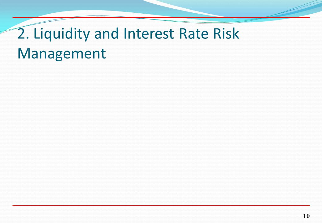 10 2. Liquidity and Interest Rate Risk Management