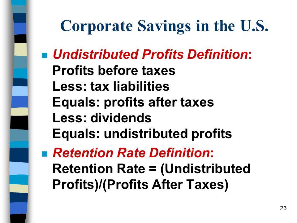 23 Corporate Savings in the U.S.