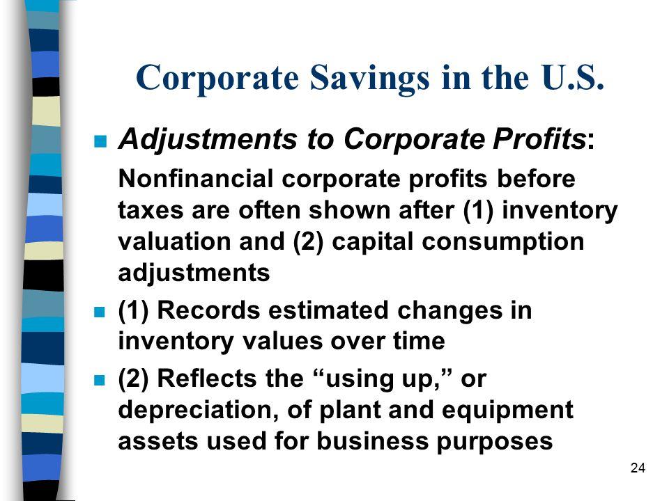 Corporate Savings in the U.S.