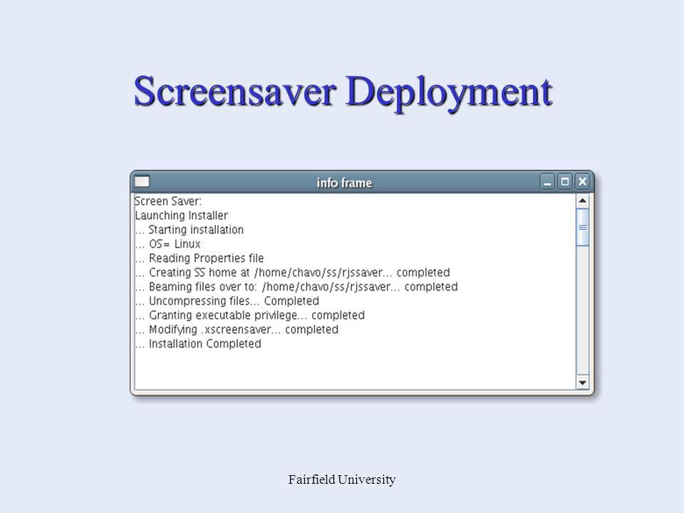 Fairfield University Screensaver Deployment