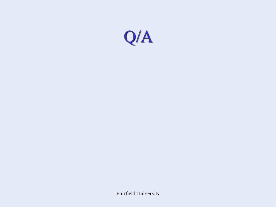 Fairfield University Q/A