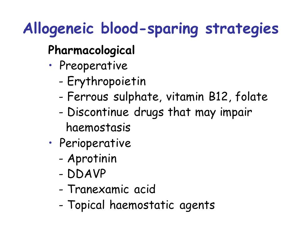 PABD Aggressive autologous blood phlebotomy (twice weekly for 3 weeks, beginning 25 to 35 days before surgery) endogenous erythropoietin levels increase with RBC volume expansion of 19% to 26% Exogenous erythropoietin therapy stimulates erythropoiesis (Expansion up to 50% RBC volume)