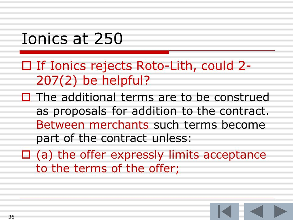 Ionics at 250 36  If Ionics rejects Roto-Lith, could 2- 207(2) be helpful.