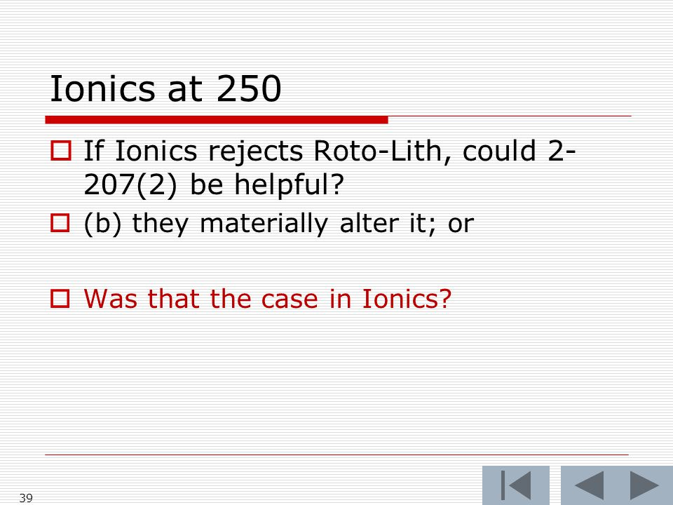 Ionics at 250 39  If Ionics rejects Roto-Lith, could 2- 207(2) be helpful.